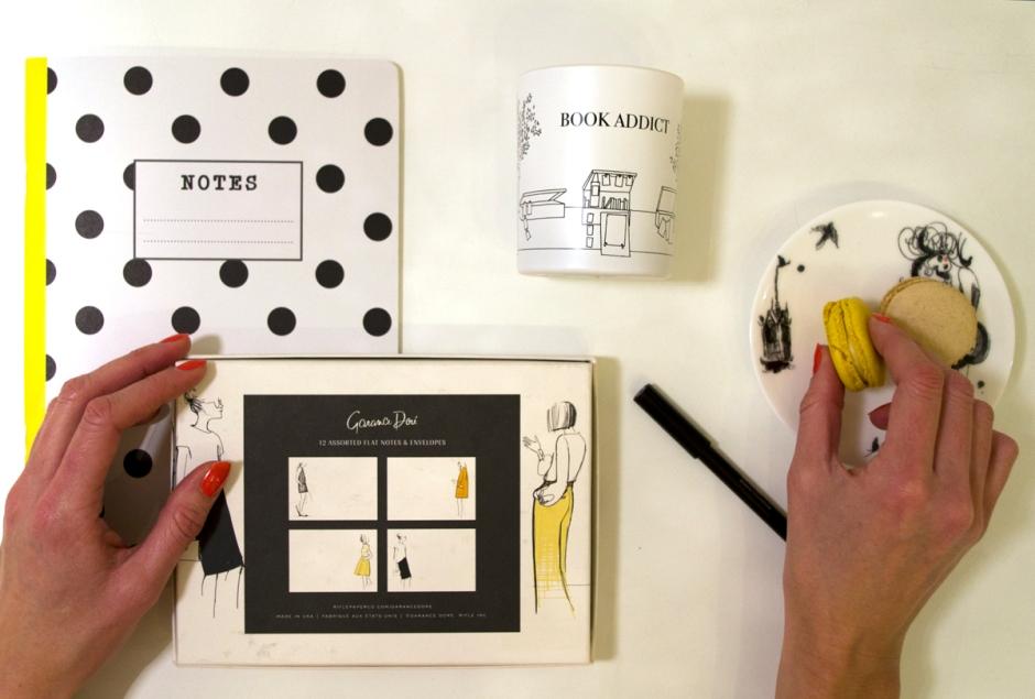 Notes, Garance Doré kutsukortit, macarons & Book Addict -kynttilä Tian Veranta -kaupasta – www.stillme.fi
